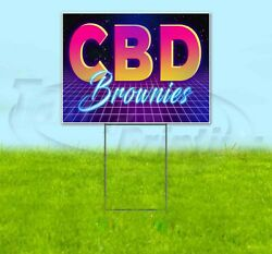 Cbd Brownies Yard Sign Corrugated Plastic Bandit Lawn Decoration Usa 80and039s