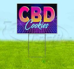 Cbd Cookies Yard Sign Corrugated Plastic Bandit Lawn Decoration Usa 80and039s