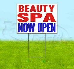 Beauty Spa Now Open Yard Sign Corrugated Plastic Bandit Lawn Decoration Usa
