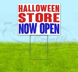 Halloween Store Now Open Yard Sign Corrugated Plastic Bandit Lawn Decoration Usa