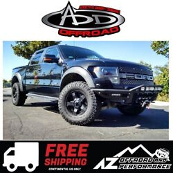 Add Race Series Front Winch Bumper Black For 2010-2014 Ford F150 Raptor