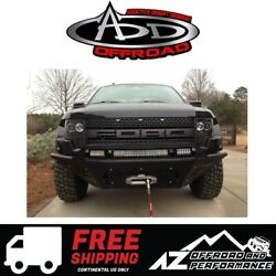 Add Stealth Fighter Front Winch Bumper Black For 2010-2014 Ford F150 Raptor
