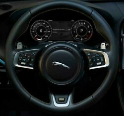 Jaguar OEM F-Pace XE XF 300 Sport Leather Steering Wheel With Yellow Stitching