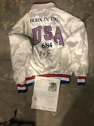 Autographed 1984 Bruce Springsteen World Tour Jacket Born In The Usa Cbs Jsa