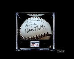 THE ONE AND ONLY LAST BABE RUTH SIGNED BALL WITH A PSADNA GRADE 10 SIGNATURE