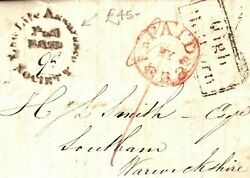 Gb Cover Life Assurance Form Lettersheet Post Paid London Receiver 1833 P184