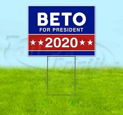 Beto For President 2020 18x24 Yard Sign Corrugated Plastic Lawn Usa Election
