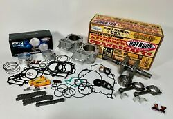05-11 Brute Force 750 Cylinders Crank Rods Cp Pistons Motor Rebuild Cam Chains
