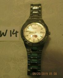 Rare Stainless Fossil Men's Lobster Logo Watch 10 Atm Watch Pr5332 Lot 14