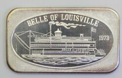 Ussc-147 And039belle Of Louisvilleand039 1 Troy Ounce .999 Fine Silver Bar 1973