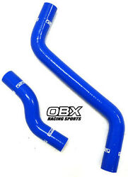 Obx Blue Radiator Hose For 1993-1997 Toyota Corolla Ce 1.6l 4a-fe