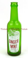 Rare And Nice 1930s Ginger Mint Julep Green Acl Bottle Maryland Baltimore
