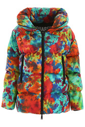 NEW Dsquared2 tie dye puffer jacket S72AA0391 S52346 Multicolour AUTHENTIC NWT