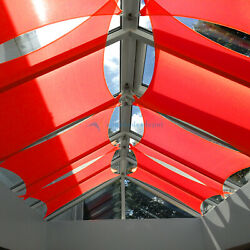 Sun Shade Sail Red Canopy Patio Garden Cover 16x16-24x24 Rectangle Square