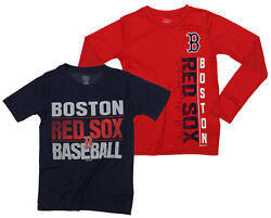 MLB Youth Boston Red Sox Fan Two Piece Performance T-Shirt Combo Set $34.99
