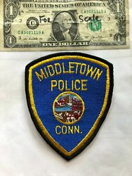 Middletown Connecticut Police Patch Un-sewn Great Shape