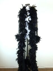 DESIGNER FEATHER BLACK SHEER ROBE DUSTER COAT GLAM COVER UP S SEXY lingerie