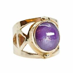 Star Ruby 11.41ct Cabochon 14kt Gold Ornate Ring