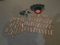 Thomas Wooden Railway Railroad Wood Curved Train Tracks Lot Toy Game Play Set 66