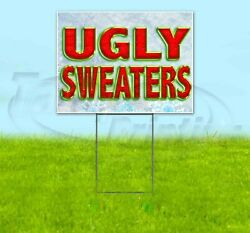 Ugly Sweaters 18x24 Yard Sign Corrugated Plastic Bandit Lawn Business Christmas