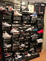 Over 75 Pairs Of Mostly New Air Jordan Retro Collection With Boxes Size 9.5-11