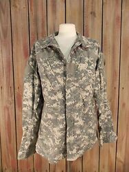 Army Camo Shirt Digital Full Zip W/velcro Front Womenand039s Size Small Reg