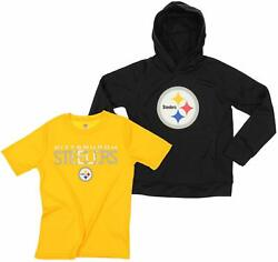 Nfl Youth Pittsburgh Steelers Team Performance Hoodie And Tee Combo Set