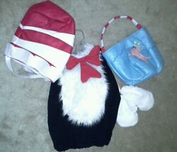 Nwt Pottery Barn Cat In The Hat Costume And Fish Bowl Treat Bag 4/5/6