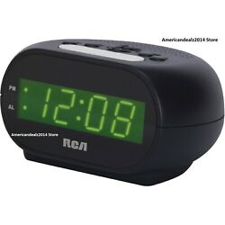 RCA RCD20 SUPER Extremely Loud Alarm Clock For Heavy Sleeper .7 Inch Display