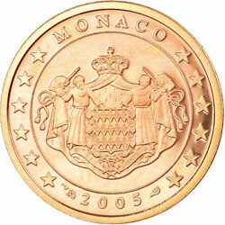 [726834] Monaco, 2 Euro Cent, 2005, Be, Ms65-70, Copper Plated Steel