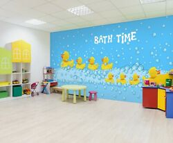 3d Cute Little Yellow Duck O536 Wallpaper Wall Mural Self-adhesive Commerce Amy