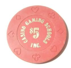 1980and039s Casino Gaming Schools Inc. Red Chip Great For Any Collection