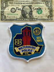 Waterbury Connecticut Police Patch Un-sewn Great Shape