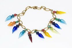 Miriam Haskell 1930andrsquos Multi Color Glass Perfume Bottles Chain Necklace