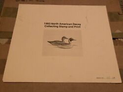 1983 Donald Blakney North American Decoy Duck Stamp And Print 1st Evans Pintail