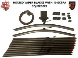 2 - 22 Heated Silicone Winter Wiper Blades Plus 10 Squeegees Thermalblade Fleet