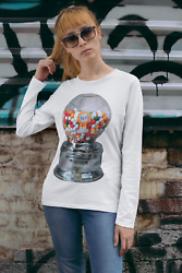 Ford Gumball Machine Long Sleeve T-shirt Great Gift For Any Vending Candy Fan
