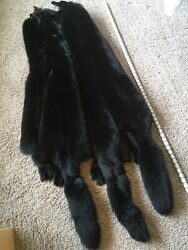 Jumbo Select Ranch Blue Fox Pelts Dyed Black Tanned Trim Ruff Wild Country Furs