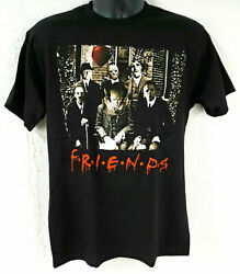 HORROR FRIENDS T-shirt Scary Movie Characters Halloween Adult Tee New