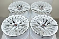 4 New DDR Zuki 18x8 5x114.3 40mm White Machined 18