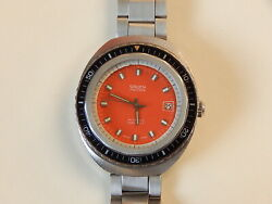 Vintage Diver-style Gruen Watch. Very Robust Stainless Steel Case. Ca 1970and039s