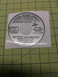 Ohlsson And Rice Silver Decal Set