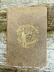 1858 1st Edition Magic Tricks Conjuring Parlor Games - And039the Sociableand039 By Arnold