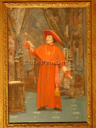 Jehan Georges Vibert Cardinal Reading A Letter Artist Painting Reproduction Oil