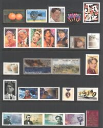 2011 U.s. Commemorative Year 121 Stamps Set With Sheets/flags/airmail Mint-nh