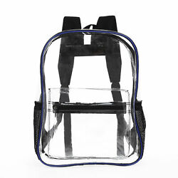Heavy Duty Clear Transparent Backpack See Through Book bag $12.99