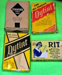 Vintage Dye Boxes Lot Of 4 Dyes Full Boxes From 1940and039s Great For Store Displays
