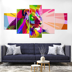 Lion King Canva Print Painting Frame Home Decor Wall Art Picture Poster Colorful