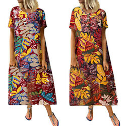 Women's Dresses Flower Pattern Vintage Swing Round Collar Pullover Colorful
