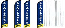 Available Now Windless Flag With Complete Hybrid Pole Set- 4 Pack